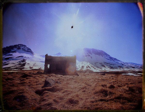 abandoned farm in the snowy mountains of Iceland - amazing landscape - landscape photography - fine art polaroid photography by Guðmundur Óli Pálmason - kuggur.com
