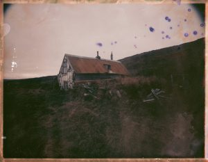 an abandoned farm in Iceland - fine art polaroid photography by Guðmundur Óli Pálmason - kuggur.com