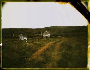 an abandoned farm by the mountains in iceland - fine art polaroid photography by Guðmundur Óli Pálmason Kuggur.com