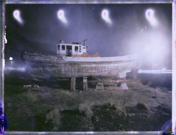 Long exposure of an old boat in Reykjavík Harbor, Iceland - fine art polaroid photography by Guðmundur Óli Pálmason - Kuggur.com
