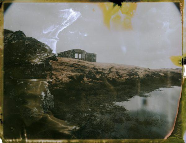 an abandoned farm by the sea in southern iceland - fine art polaroid photography by Guðmundur Óli Pálmason Kuggur.com
