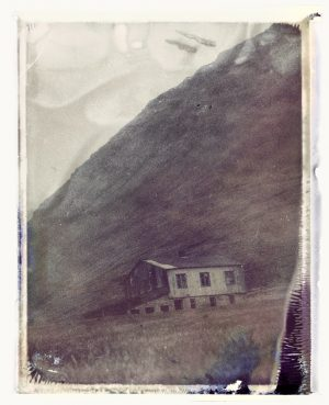 an abandoned farm in the mountains of northern iceland - fine art polaroid photography by Guðmundur Óli Pálmason Kuggur.com