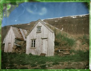 an abandoned traditional icelandic turf house farm in iceland - fine art polaroid photography by Guðmundur Óli Pálmason Kuggur.com