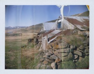 an abandoned turf house farm in iceland - fine art polaroid photography by Guðmundur Óli Pálmason Kuggur.com