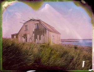 an abandoned farm at sunset in Iceland Fine art Polaroid photography by Guðmundur Óli Pálmason kuggur.com