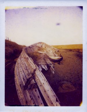 abandoned old boat of Iceland - Fine art Polaroid photography by Guðmundur Óli Pálmason kuggur.com