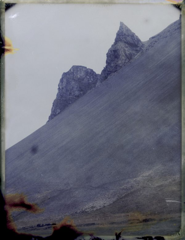 It's thought elves lives in these cliffs in Iceland - Fine art Polaroid photography by Guðmundur Óli Pálmason kuggur.com