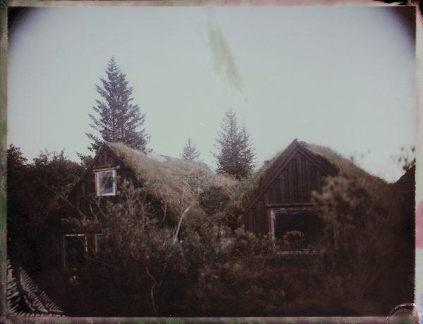 an abandoned turf house farm in Iceland Fine art Polaroid photography by Guðmundur Óli Pálmason kuggur.com
