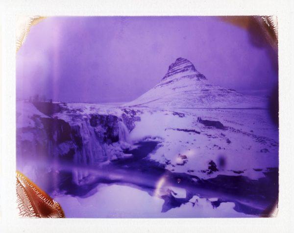 The infamous Kirkjufell and Kirkjufellsfoss at winter in Iceland - Game of Thrones - Fine art Polaroid photography by Guðmundur Óli Pálmason kuggur.com