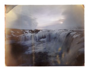 Frozen Goðafoss waterfall in north Iceland - waterfall of the gods - fine art polaroid photography by Guðmundur Óli Pálmason - kuggur.com