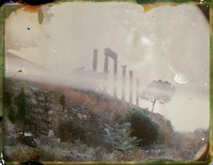 Ancient Roman columns in the old phoenician town Byblos in Lebanon. - Fine art Polaroid photography by Guðmundur Óli Pálmason kuggur.com