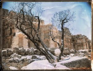 Ancient Roman ruins at Baalbek in Lebanon. Megaliths - Fine art Polaroid photography by Guðmundur Óli Pálmason kuggur.com