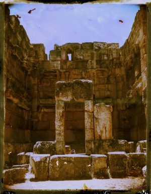 Ancient Roman ruins at Baalbek in Lebanon - Fine art Polaroid photography by Guðmundur Óli Pálmason kuggur.com