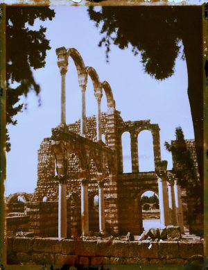 Ancient abandoned ruins at Anjar in Lebanon. - Fine art Polaroid photography by Guðmundur Óli Pálmason kuggur.com