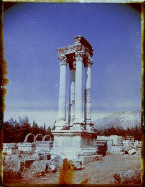 Ancient abandoned ruins at Anjar in Lebanon. - Fine art Polaroid photography by Guðmundur Óli Pálmason kuggur.com