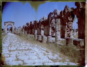 Ancient Roman ruins at Tyre Necropolis in Lebanon. - Fine art Polaroid photography by Guðmundur Óli Pálmason kuggur.com