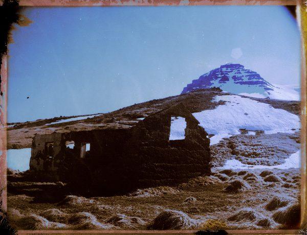 An abandoned farm with a beautiful mountain view. East Iceland. Fine art polaroid photography by Guðmundur Óli Pálmason - kuggur.com