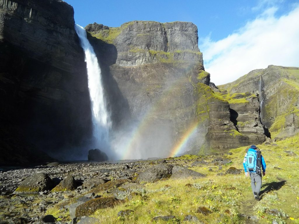 We climed all the way to the bottom og Háifoss, and then back up