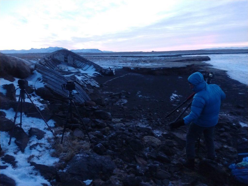 A very cold winter dawn in Snæfellsnes