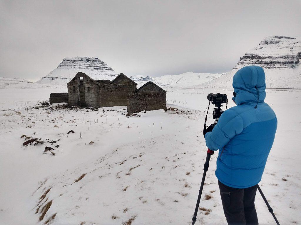 Bryan G. Stockton photographs an abandoned farm in Iceland