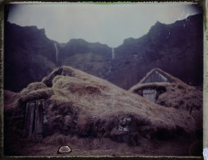 Traditional Icelandic turf houses - Fine art polaroid photography by Guðmundur Óli Pálmason - Kuggur.com